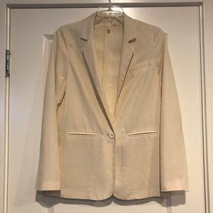 Frenchi light-weight, cream blazer